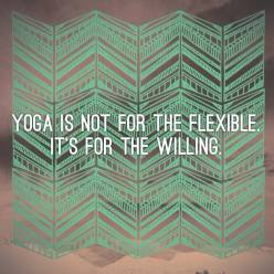 yoga is not for the..